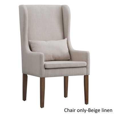 Potomac Slipcovered Wingback Host Chair by iNSPIRE Q Artisan: Beige - eBay