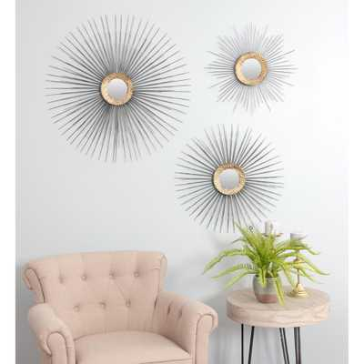 Boteh Mid Century Wall Mirrors (Set of 3) - Home Depot