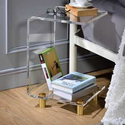 Neves Acrlylic C Shape End Table - Wayfair