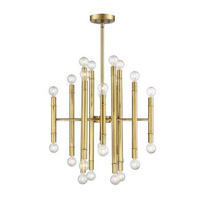 Filament Design 24-Light Natural Brass Chandelier - Home Depot