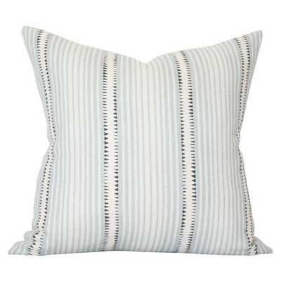 Moncorvo Le Mirage - 20x20 pillow cover / pattern on front, solid on back - Arianna Belle