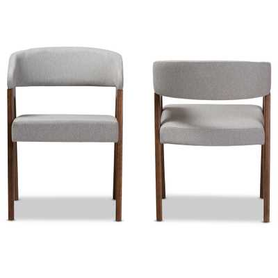 Tory Light Grey Fabric Dining Chair (Set of 2) - Home Depot