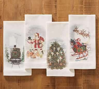 Nostalgic Christmas Napkins, Set of 4 - Pottery Barn