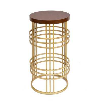 Rochelle Gold End Table - Home Depot