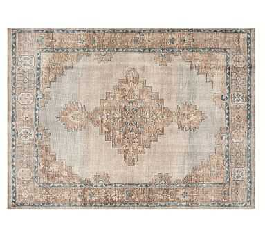 Finn Hand-Knotted Rug, 8 x 10', Blue Multi - Pottery Barn