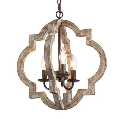 LNC Cachil 3-Light Bronze Weathered Wood Lantern Chandelier - Home Depot