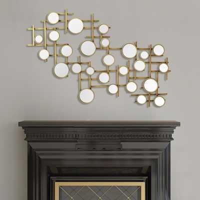 Elegant Mirror Cluster Metal Wall Decor - Home Depot