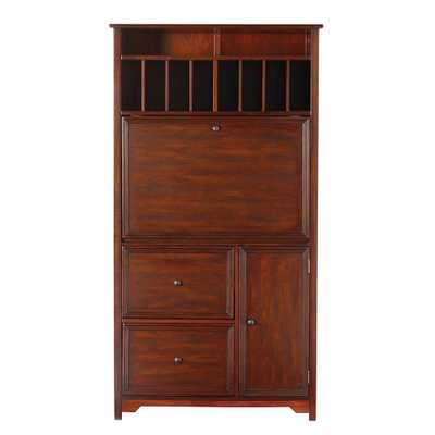 Oxford Chestnut (Brown) Secretary Desk - Home Depot