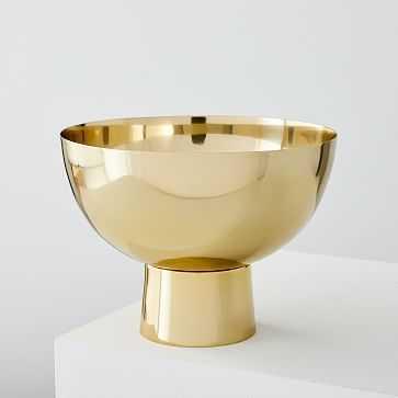 Foundation Brass Vases , Large Footed Bowl - West Elm
