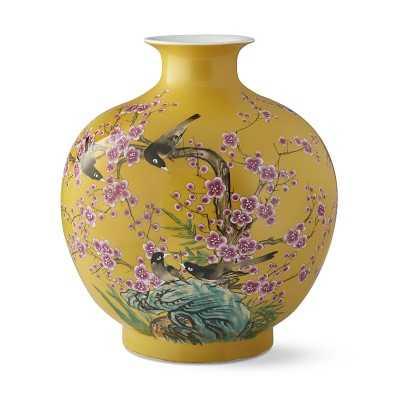 Yellow Hummingbird Ginger Jar Pom Vase - Williams Sonoma