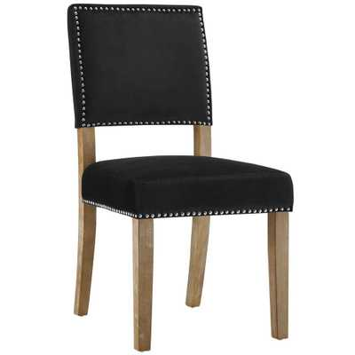 Oblige Black Wood Dining Chair - Home Depot