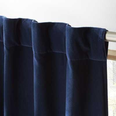 """""""velvet navy curtain panel 48""""""""x120"""""""""""" - CB2"""