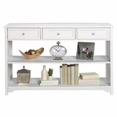 Oxford White Storage Console Table - Home Depot
