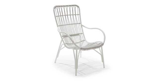 Medan White Lounge Chair - Article