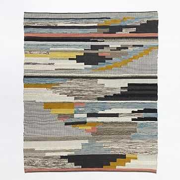 Pixel Steps Rug, Multi, 3' x 5' - West Elm
