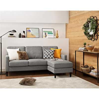 Jenny Contemporary 1 Piece Gray Sectional - Home Depot