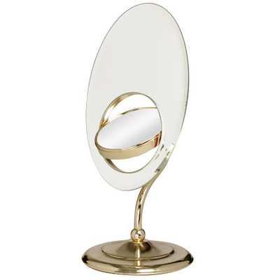Zadro Tri-Optics Vanity Mirror in Brass - Home Depot