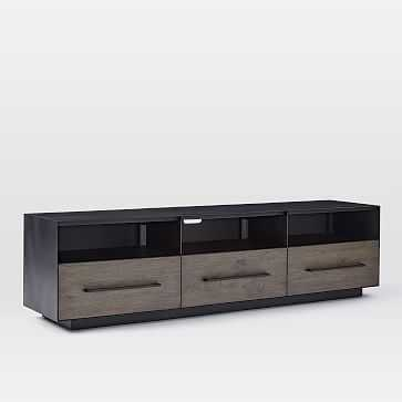 "Massaro Metal Wrapped Media Console - 68"" - West Elm"