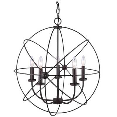 CANARM Summerside 5-Light Oil Rubbed Bronze Chandelier - Home Depot