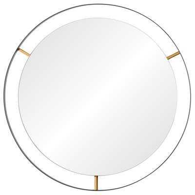 Wolfenbarger Industrial Round Accent Wall Mirror - Birch Lane