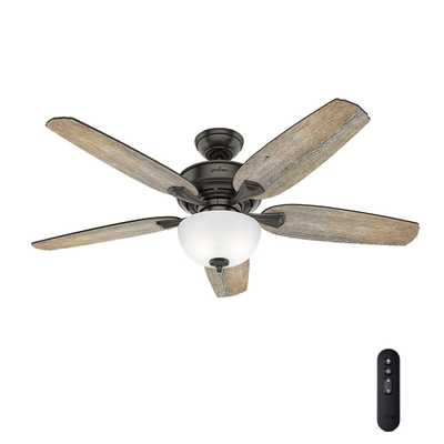 Hunter Channing 54 in. LED Indoor Easy Install Noble Bronze Ceiling Fan with HunterExpress feature set - Home Depot
