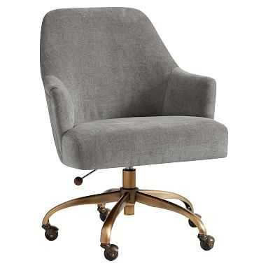 Pleated Desk Chair, Distressed Velvet Metal - Pottery Barn Teen