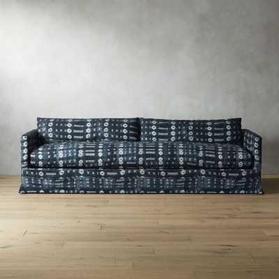 Delphine Indigo Mudcloth Slipcover Sofa - CB2