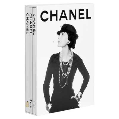 Chanel 3-Book Slipcase Assouline Hardcover Book - Kathy Kuo Home
