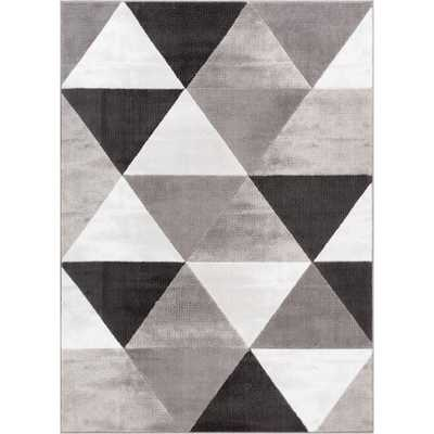 Dulcet Retro Shapes 5 ft. x 7 ft. Mid-Century Modern Geometric Grey Area Rug - Home Depot