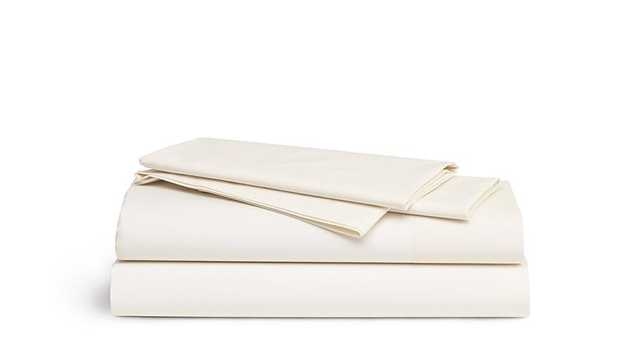 Brooklinen Percale Core Sheet Set - King - Cream - Brooklinen