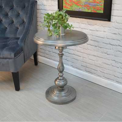 Pearson Antique Nickle End Table, Antique Nickle Finish - Home Depot