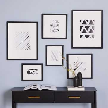 Gallery Frames, Black, Set of 6 - West Elm