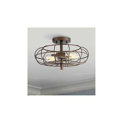 "Bartley 14 3/4"" Wide Oil Rubbed Bronze 2-Light Ceiling Light - eBay"