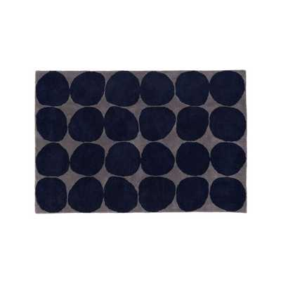 5x8' Blue Spot Rug - Crate and Barrel
