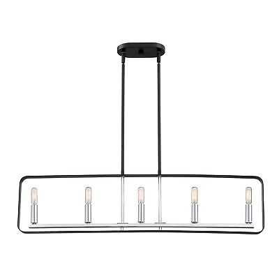 Quoizel Reveal Island Light Earth Black Steel 38-inch Long Chandelier - eBay