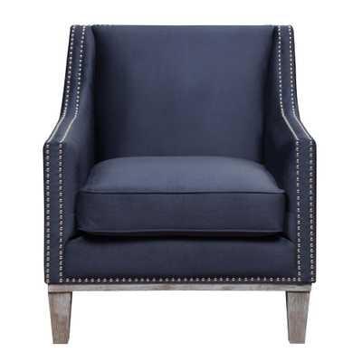 Element International Aster Navy (Blue) Accent Chair - Home Depot