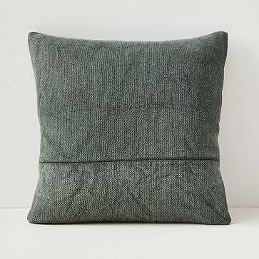 "Cotton Canvas Pillow Cover, 18""x18"", Beetle Green - West Elm"