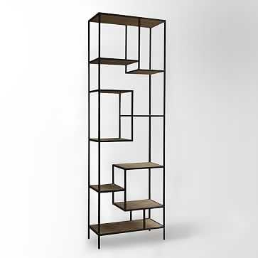 Reclaimed Pine + Iron Bookcase - West Elm