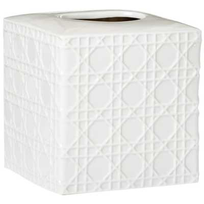 Home Decorators Collection Pisa Tissue Cover in White - Home Depot