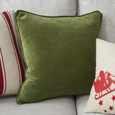 "Baylie Cotton 18"" Throw Pillow Cover - AllModern"