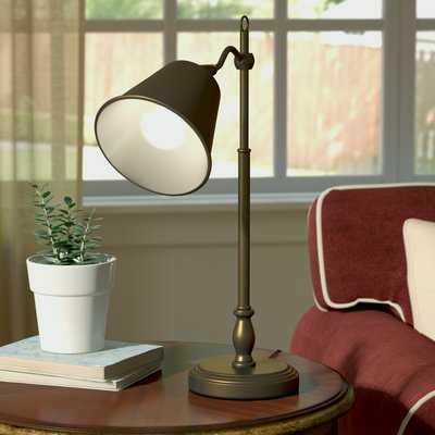 "Hamilton 19"" Antique Brass Desk Table Lamp - Birch Lane"