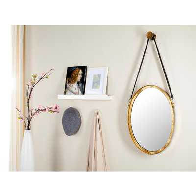 Pembroke Oval Antique Gold Strap Decorative Mirror - Home Depot