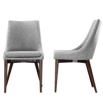 Nobleton Cool Grey Dining Chair (Set of 2) - Home Depot