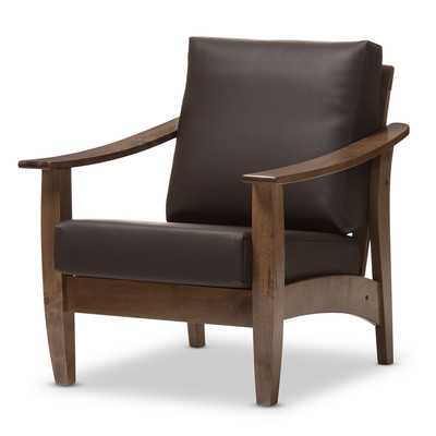 Naccarato Faux Leather Armchair - Wayfair