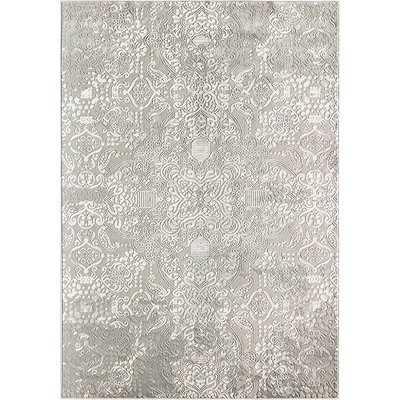 Duchess Calista Gray/White Area Rug - Wayfair