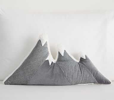 Mountains Pillow, 24x13 In, Grey - Pottery Barn Kids
