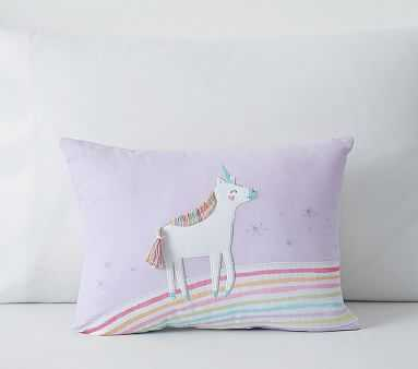 Molly Unicorn Pillow, 12x16, Lavender - Pottery Barn Kids