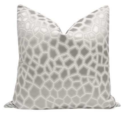 """Faux Silk Safari  Pillow Cover// Silver - 20"""" X 20"""" - Little Design Company"""