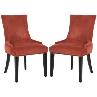 Lester Rust/Espresso (Red/Brown) 19 in. H Dining Chair (Set of 2) - Home Depot
