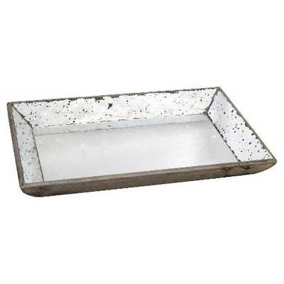 "Vintage Finish Mirrored Glass Tray - 13"" x 19.5"" - Target"